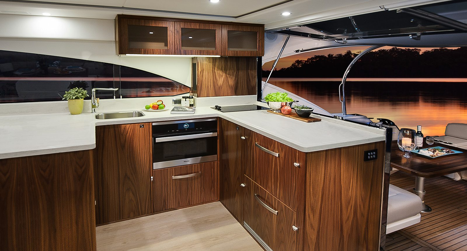 Riviera 5400 Sport Yacht - galley