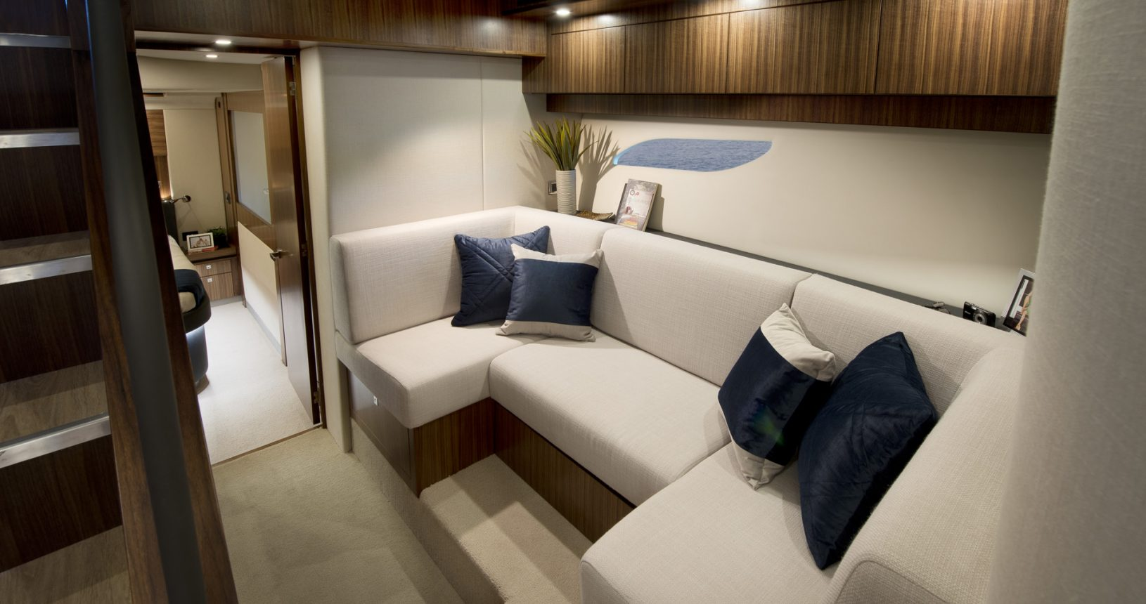 Riviera 6000 sports yacht for sale - lounge