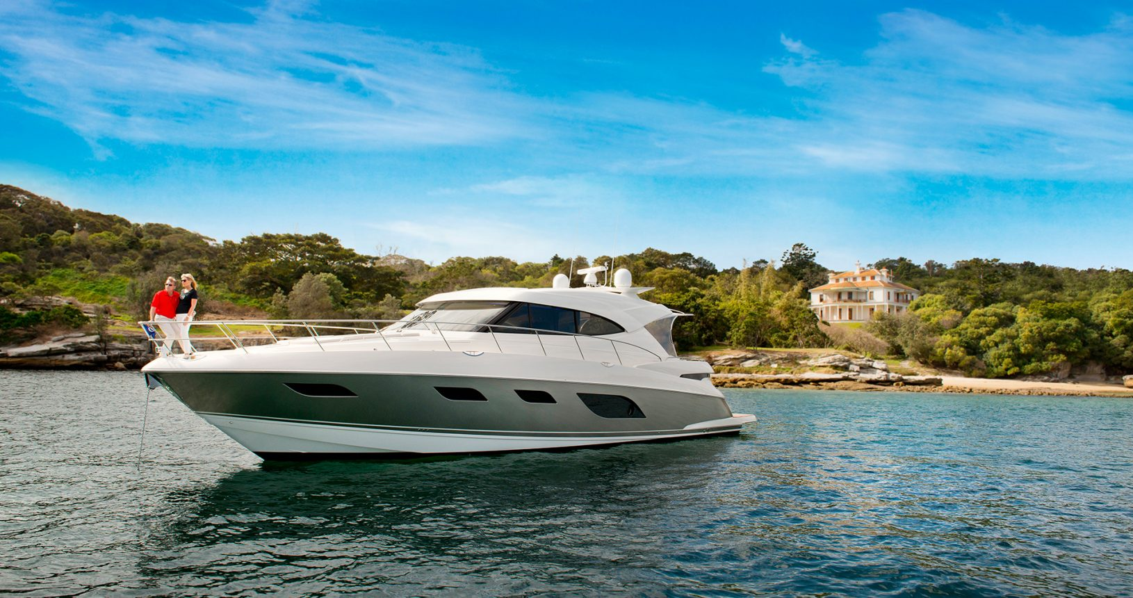 Riviera 6000 Sport Yacht for Sale - anchored