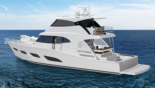 Riviera 72 Sports Motor Yacht for sale - render