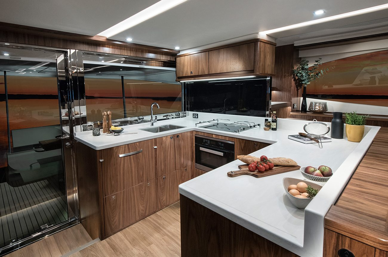 Riviera 72 Sports Motor Yacht for sale - galley