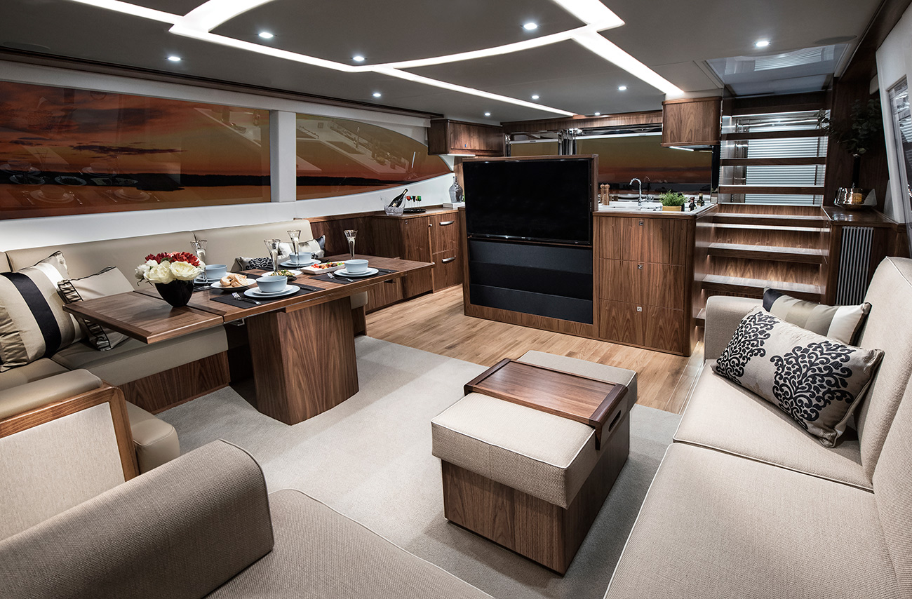 Riviera 72 Sports Motor Yacht for sale - Salon