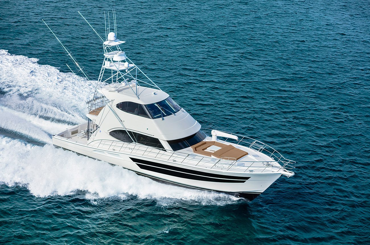 Riviera 77 Enclosed Flybridge for sale - Running