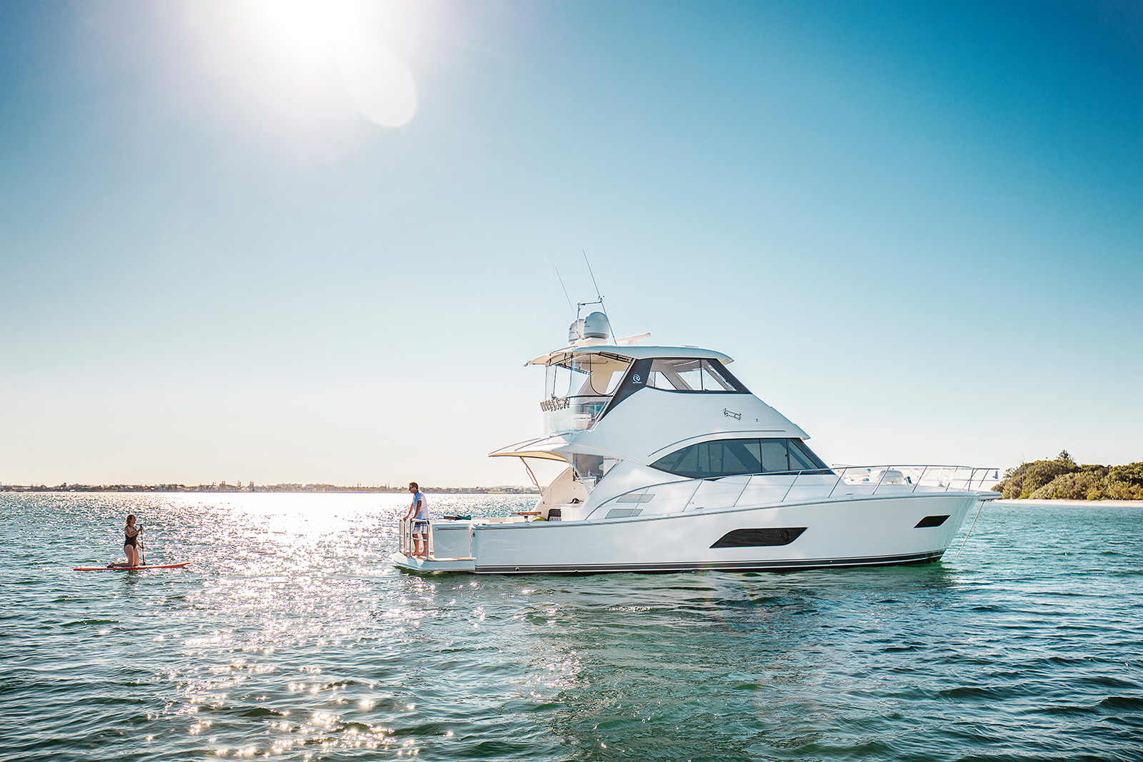 Riviera 52 Enclosed Flybridge - anchored