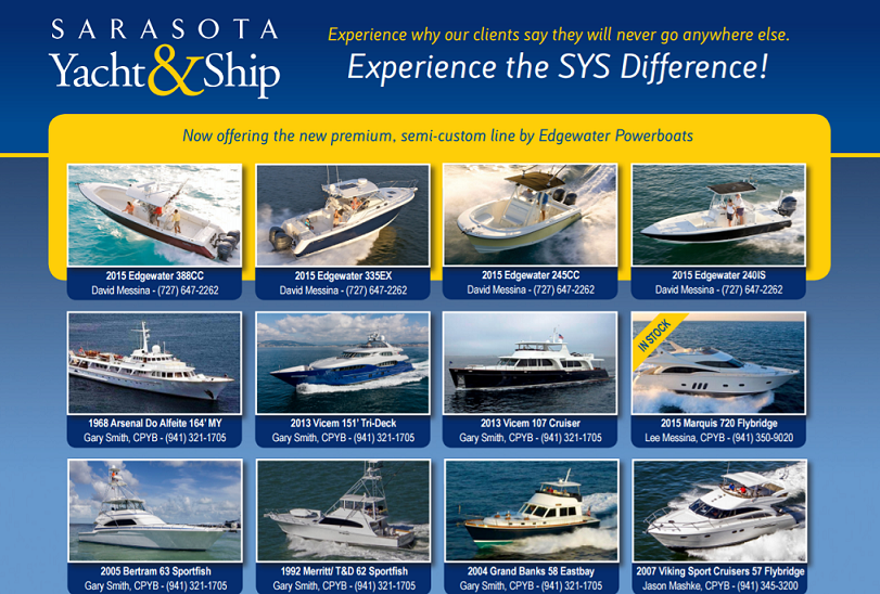 Print advertising in leading yachting publications to sell your yacht or boat