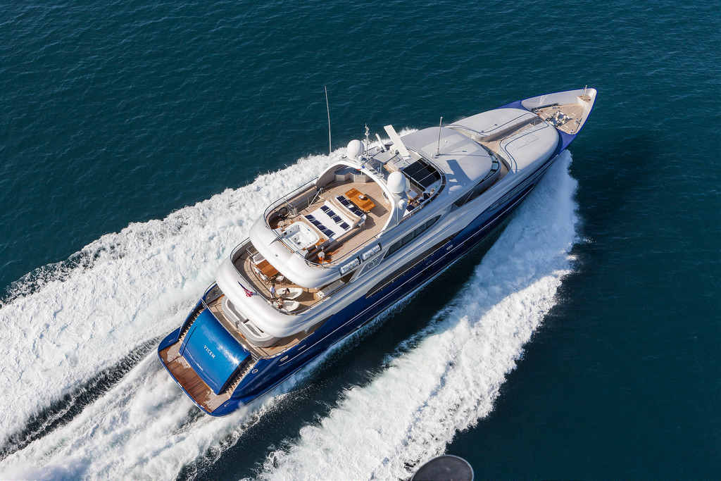 Vicem 151 Tri Deck for Sale - Aerial View