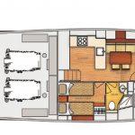 Vicem 64 classic flybridge - 2 cabin dinette option