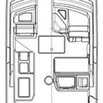 Edgewater 262CX for sale - layout