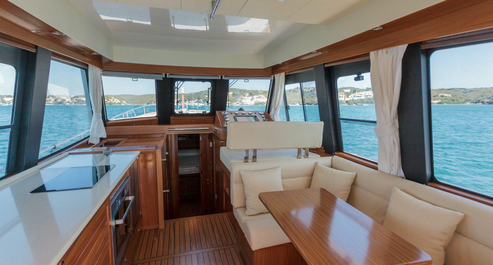 Minorca Islander 42 for sale - salon and galley