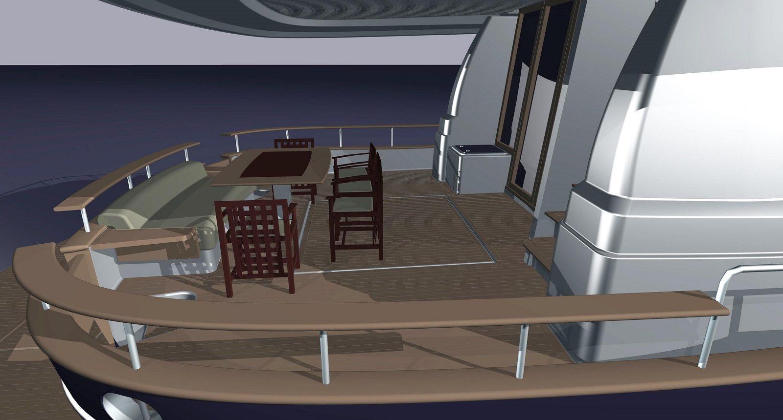 Minorca Islander 68 for sale - back deck