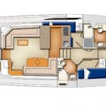Riviera 45 Open Flybridge - Salon and Accommodation