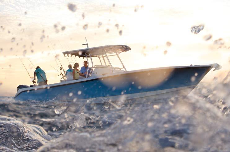 Edgewater 318CC - anchored