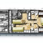 Minorca Islander 42 for sale - layout lower level