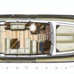 Minorca Islander 54 Flybridge for sale - main deck layout option 2