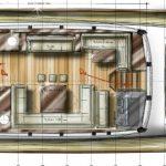 Minorca Islander 68 for sale - main deck layout