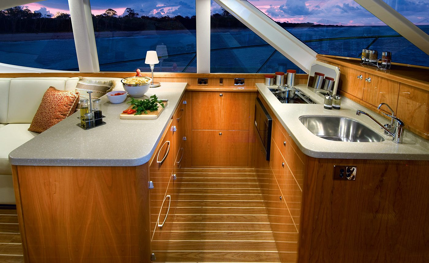 Riviera 45 Open Flybridge - galley