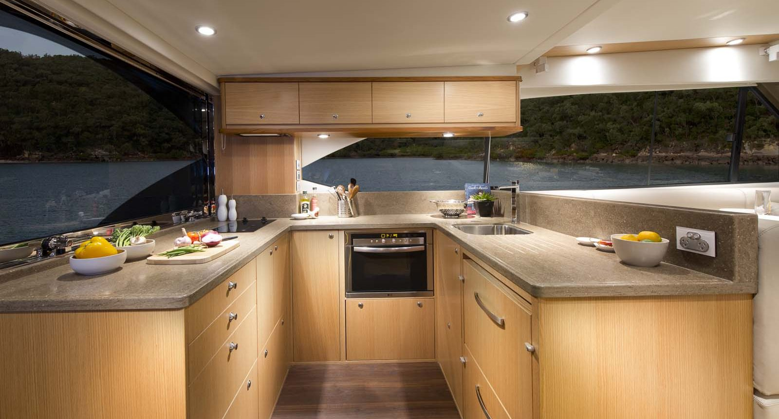 Riviera 52 enclosed flybridge for sale - galley