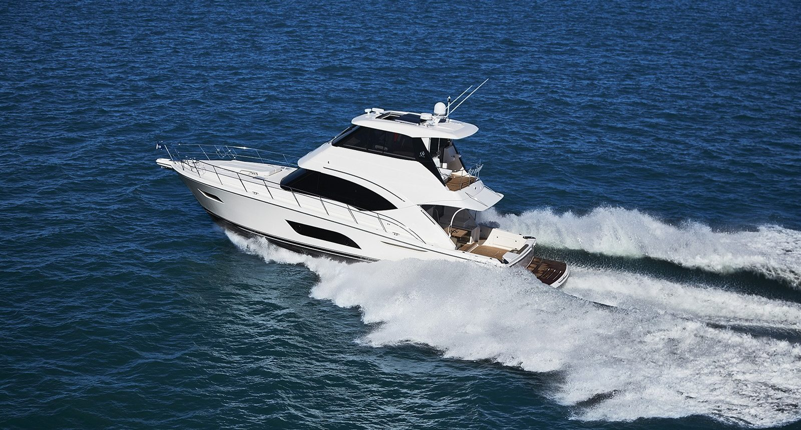 Riviera 57 enclosed flybridge for sale - running