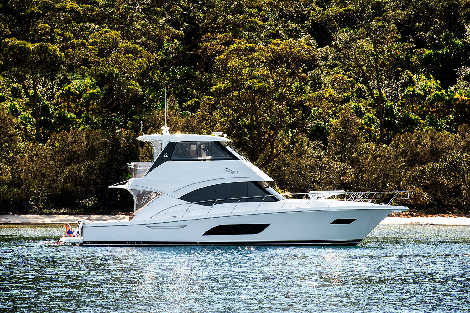 Riviera 57 Enclosed Flybridge - anchored