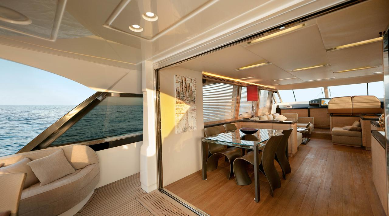 Monte Carlo MCY 76 yacht for sale - dining area