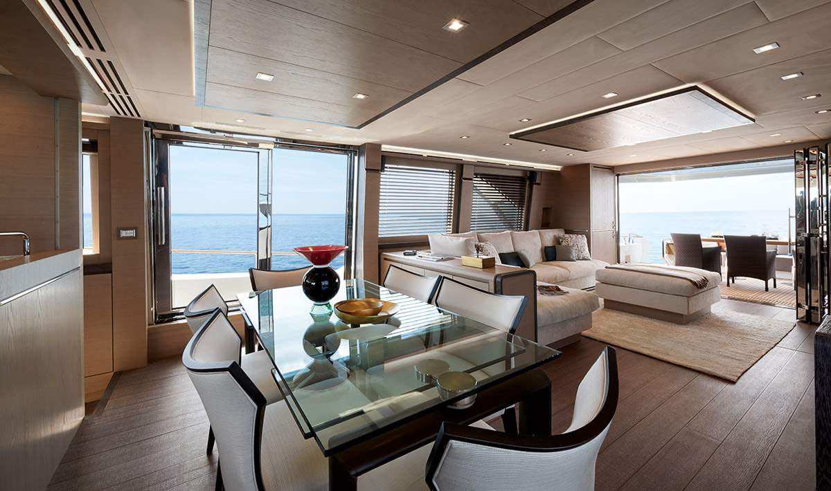 Monte Carlo MCY 80 yacht for sale - dining area