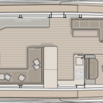 Monte Carlo MCY 70 yacht for sale - main deck galley up layout