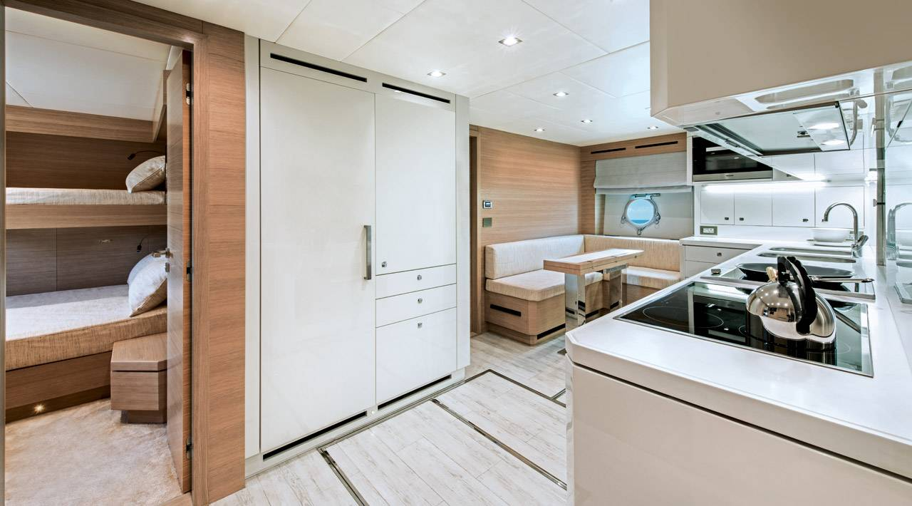 Monte Carlo Yachts MCY 105 for sale - galley