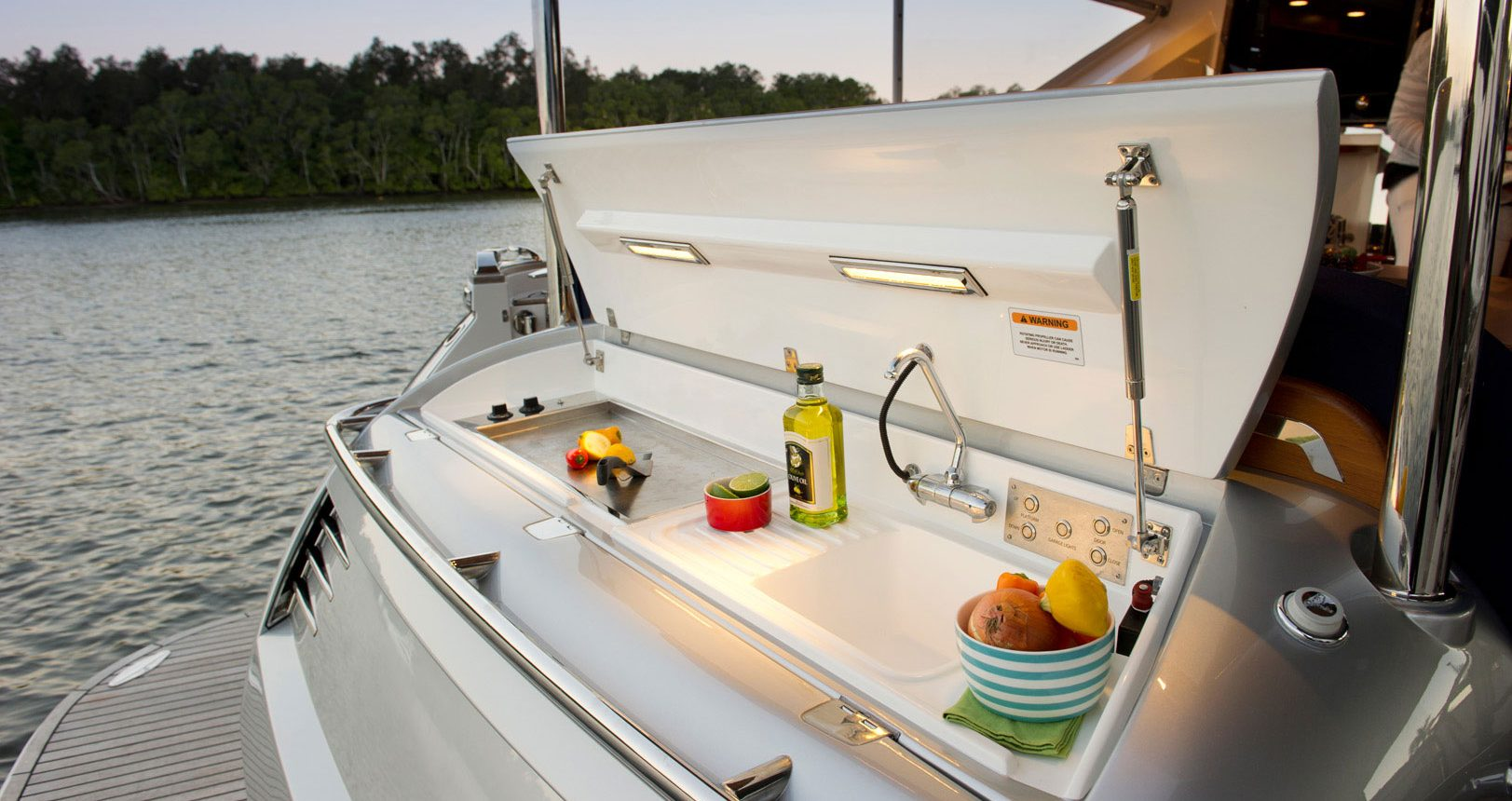 Belize 54 Sedan for sale - transom BBQ