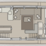 Monte Carlo MCY 76 yacht for sale - main deck galley up layout
