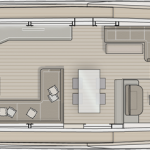 Monte Carlo MCY 70 yacht for sale - galley down layout