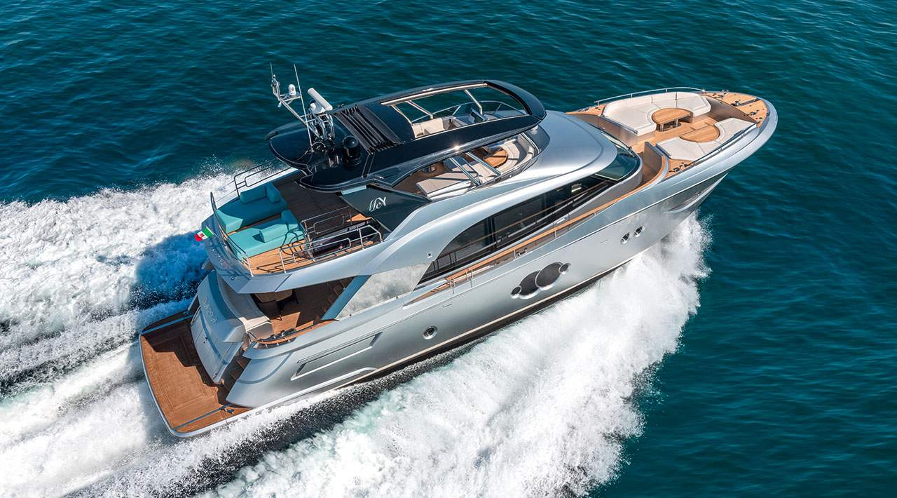 Monte Carlo Yachts MCY 76 Aerial Shot