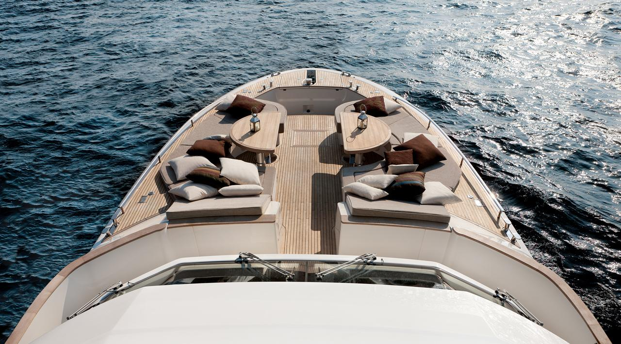 Monte Carlo MCY 76 yacht for sale - bow lounge