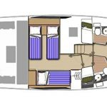 Riviera 445 SUV - Accommodation