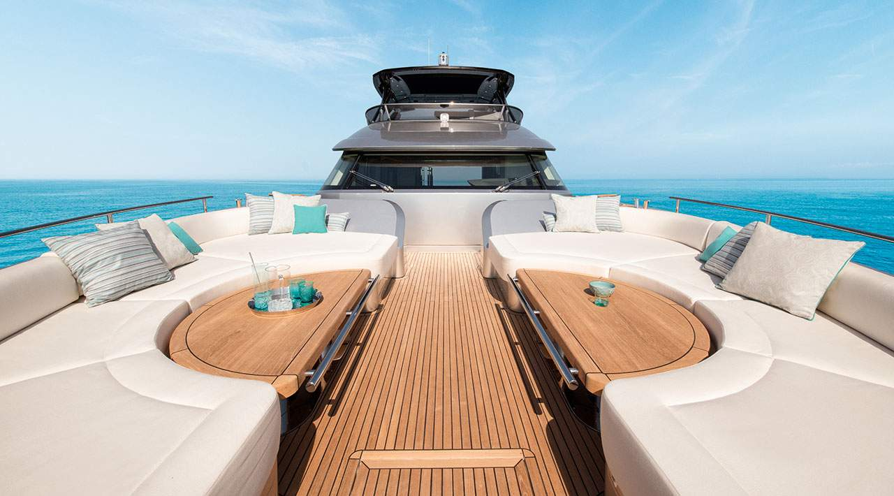 Monte Carlo Yachts MCY 76 luxury bow seating
