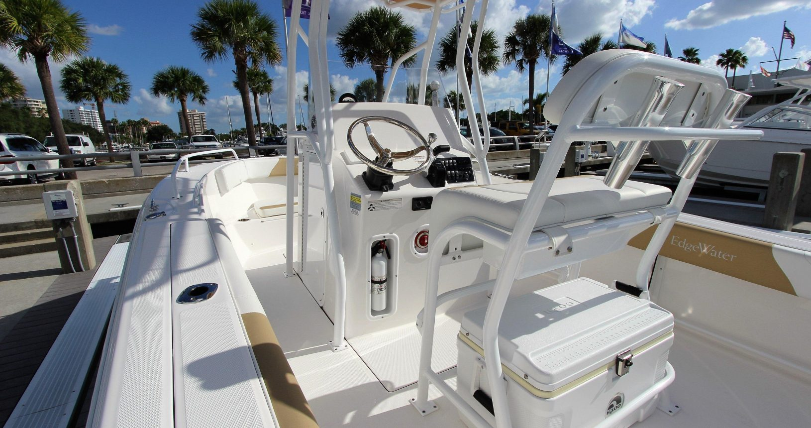 Edgewater 208CC for sale - helm and seating