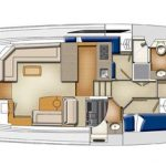 Riviera 45 Open Flybridge - Helm