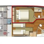 Riviera 52 Enclosed Flybridge - Accommodation Option