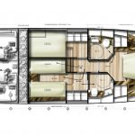Minorca Islander 42 for sale - layout lower level 3 cabin option