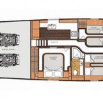 Vicem 80 Flybridge for sale - Lower Deck