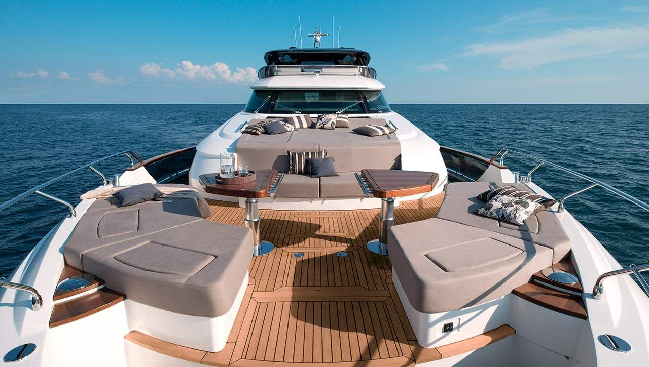 Monte Carlo MCY 96 yacht for sale - bow lounge