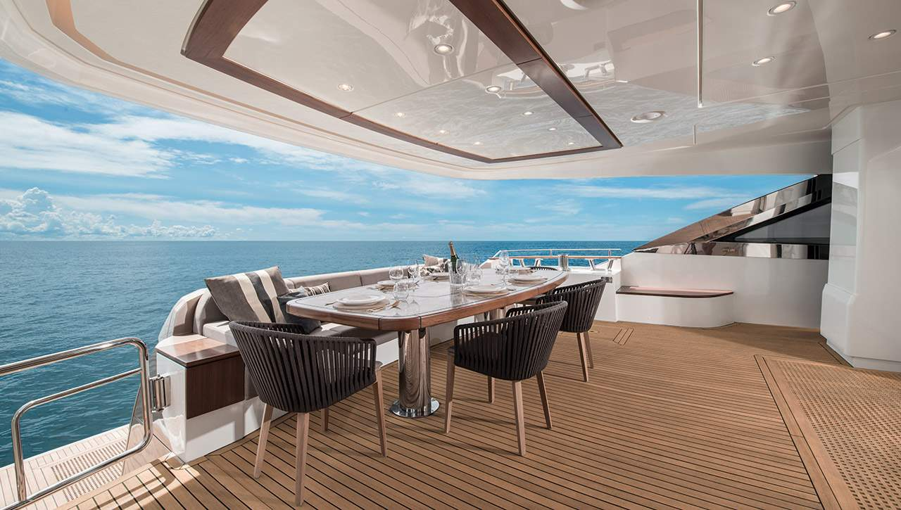 Monte Carlo MCY 96 yacht for sale - back deck