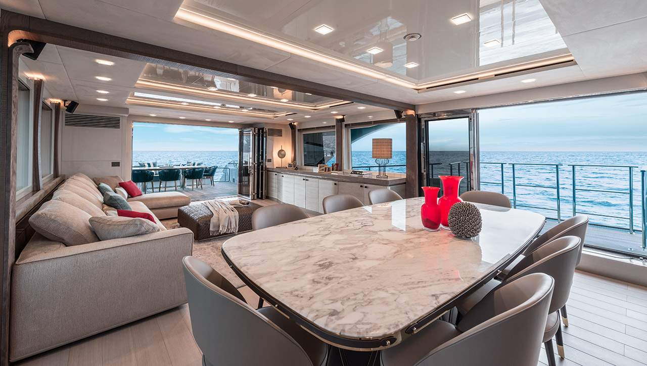 Monte Carlo MCY 96 yacht for sale - dining area