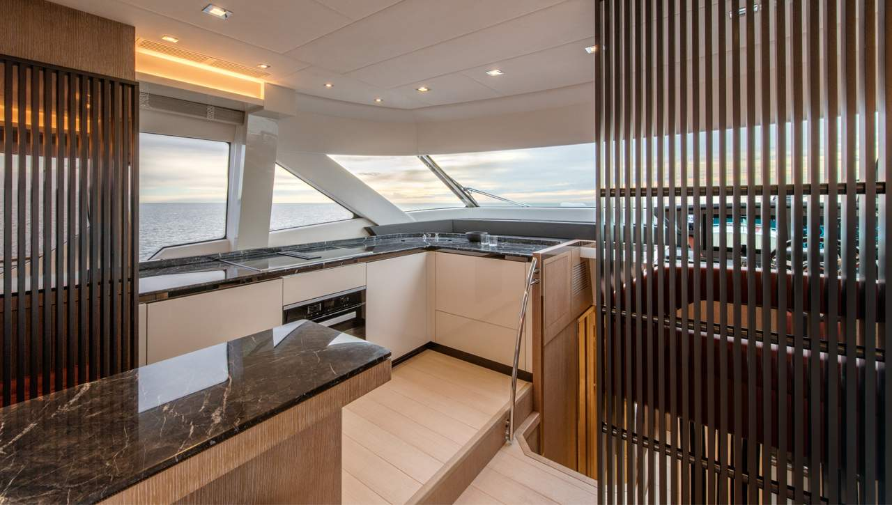 Monte Carlo Yachts MCY 70 galley