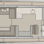 Monte Carlo MCY 65 for sale - main deck forward galley layout