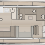 Monte Carlo MCY 65 for sale - main deck aft galley layout