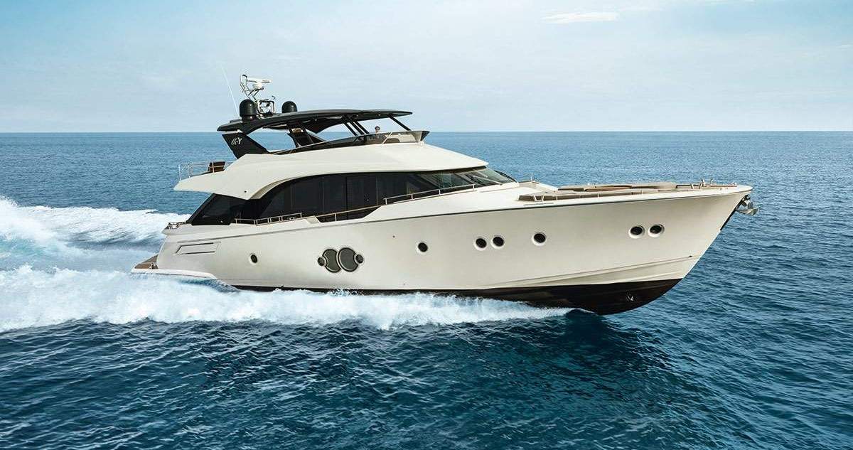 MCY 80 at the Boat Show Eurasia in Istanbul