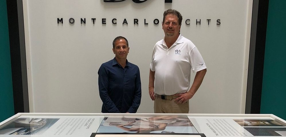 SYS Sales Director Dirk Boehmer at the Monte Carlo Yachts facility in Italy