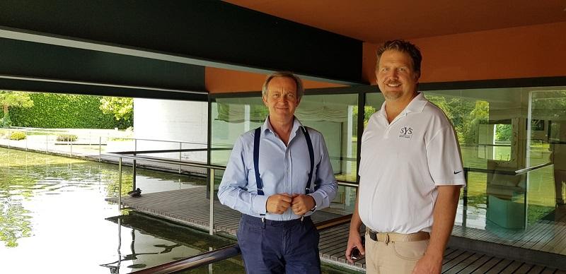 SYS Sales Director Dirk Boehmer with Carlo Nuvolari of Nuvolari Lenard yacht design