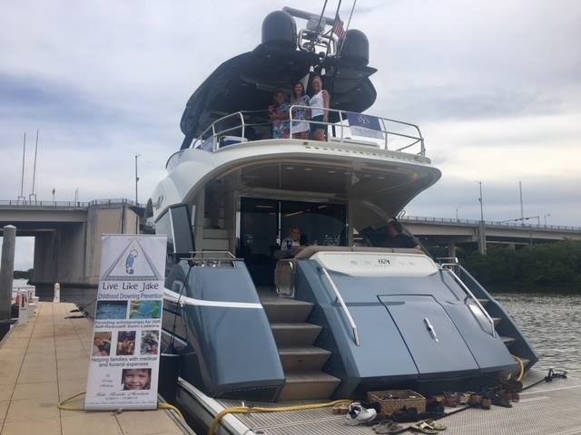 SYS Yacht Sales host Live Like Jake foundation fundraiser aboard MCY 70