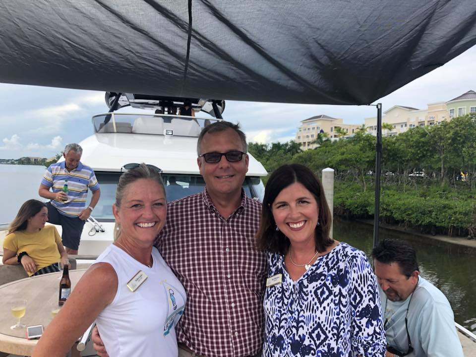 Lee Petereit from Illustrated Properties Harbourside with Keri Morrison and Kellie Linder of the Live Like Jake foundation.